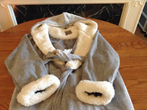 Super-Soft Plush Robe, Sherpa Lining – Large to XL – NEW, TAGS