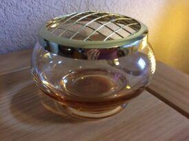 Caithness rose bowl