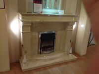 Ex Display Westminster Fireplace In Crema Marfil Marble
