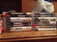 Variety of ps3 games $10 each can deliver