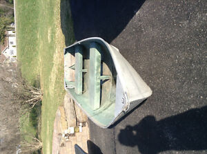 12 foot aluminum boat with 8hp Evinrude