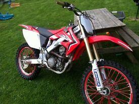 Honda crf 250 r twin pipe