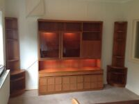 SOLID TEAK FURNITURE. Display, bar, sideboard.
