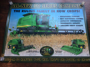 John Deere tractor, combine and implement posters and brochures