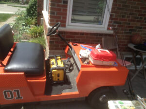 1967 Westinghouse golf cart painted as The General Lee