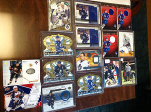 Game Used Jerseys Stick Puck Signature Hockey Cards Lot $55