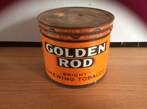 Golden Rod chewing tobacco tin