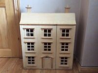 Children's wooden dollhouse