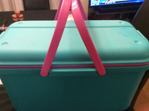 Cake decorating supplies & storage container