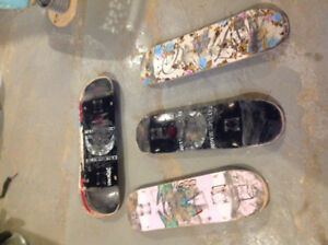 Used skateboard decks