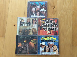 5-count of CDs: Country Heat 2005/06, Creed, Big Shiny Tunes 3