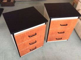 Bedside Units / Office Drawers - Quality on castors