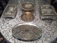 Silver Queen Anne tableware