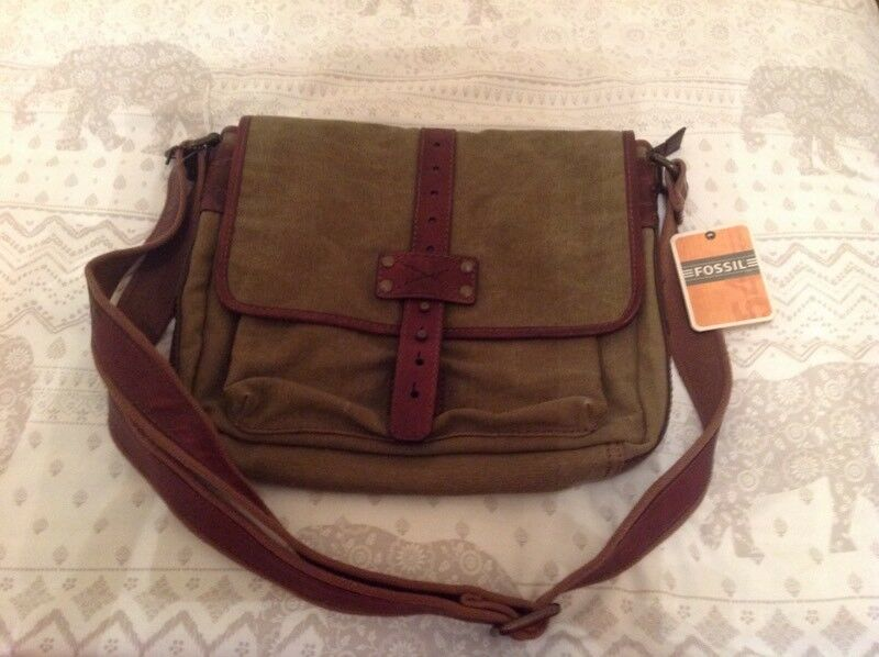Fossil Canvas Commuter bag for sale