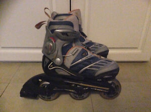Like new adjustable size junior rollerblades size 12,13,1,2  Exc