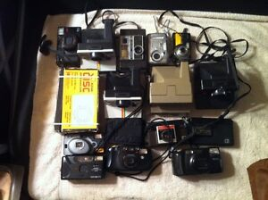 Box of 16 Old Cameras.