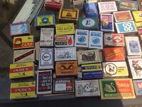 Large collection of vintage matchboxes and match books