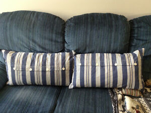 Two Accent Pillows for Bed or Sofa