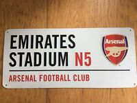 Emirates Stadium Arsenal Road Sign