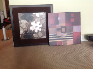 Prints for sale. Must take both. One framed. Other canvas print