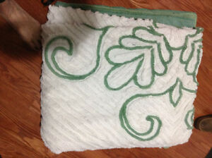 Vintage chenille bedspread double sized for sale