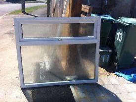 UPVC double glazed WINDOW -obscured glass, white
