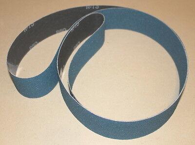 2 x 72  Zirc AZ Sanding Belts P80 Grit- 5 Belts- Intermediate Grind- Knifemaking