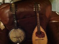 Mandolin and banjolin for sale £250 for the pair ono