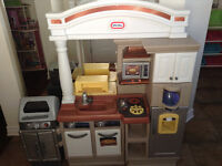 Little tikes kitchen with BBQ Andy accessories