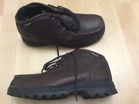 Timberland brown leather work shoe boots