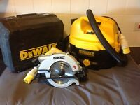 Dewalt saw and Hoover kit 110v