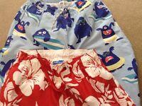 Boys swim shorts X 2 and Boden shorts Age 13