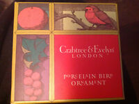 Crabtree & Evelyn London 4 ornements / 4 ornaments