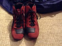 Pre-owned OXTAR Ladies Motorcycle Boots- Red