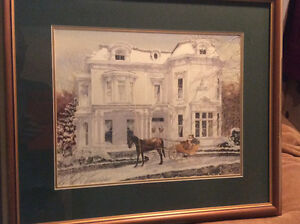 Two Hearts - Walter Campbell Print,  framed.