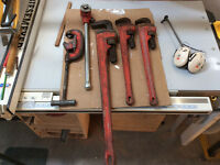 Rigid heavy duty piping tools