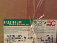 "Fujicolor Crystal Archive SuperType C Paper 30""X""40 - 50 sheets"