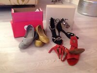 Size 6/39 - 4 pairs shoes, like New and Boxed