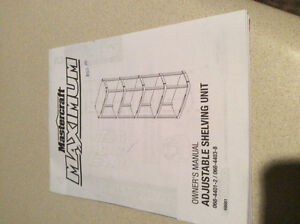 "5 Shelf Resin Rack 36"" - Mastercraft Maximum Kitchener / Waterloo Kitchener Area image 1"