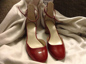 Red Zara Basic heels (WILL TRADE FOR FOOD)