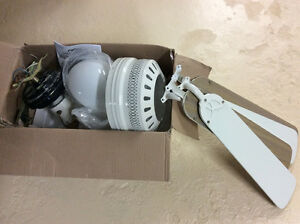 4 white Ceiling fans $10 each.