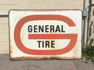 Antique GENERAL TIRE hanging advertising sign !