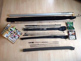 REDUCED...Job lot of fly fishing rods and flies