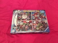 Avengers 4 X 100 Piece Jigsaw Puzzle Bumper Pack - Brand new still sealed - ideal for Christmas