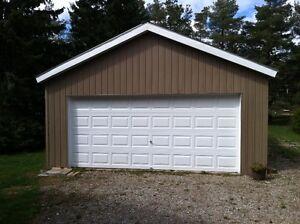 Detached Double Garage, 24 x 44 ft, South end, Electricity, $500