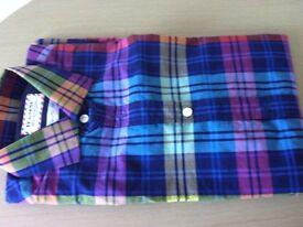 Long sleeved brand new designer shirt size 39 medium in lovely colour