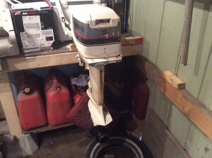 FOR SALE. 15 HP Johnson, and tank, runs great, $900.00