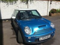 Mini Cooper S 1.6 Supercharged light blue