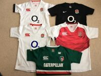 England and tigers rugby shirts age 8