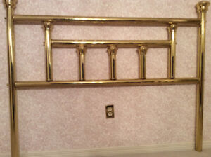 Brass headboard and footboard queen size